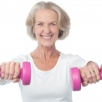 Older lady exercising