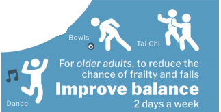 Improve Balance part of the Physical Activity Guidelines 2019